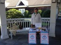 National Voter Registration Day - Member Glorian Shamp at registration table