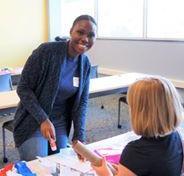 LWV Kent Voter Girl project-smiling adult leader