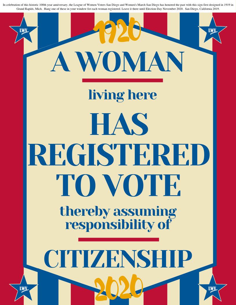 historical voter signage