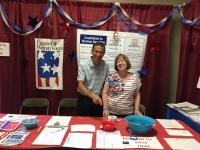 LWVSMA members at Voter Registration Booth