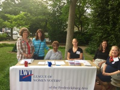 LWVFRA Members gather at registration table