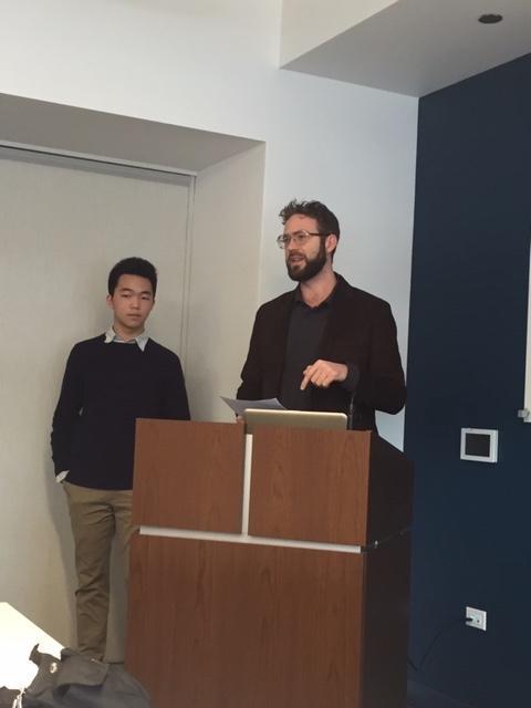 Victor Shi (left) and Sean Corbett (right)