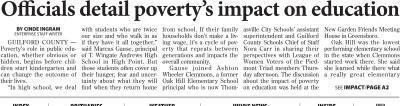 High Point Enterprise covering Impact of Poverty on Education