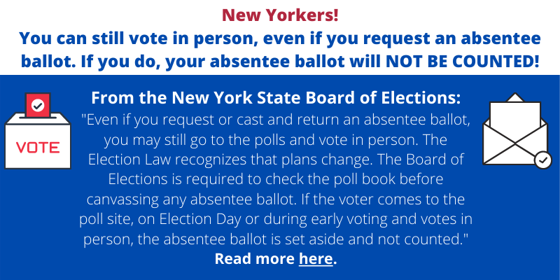 You Can Still Vote in Person Even if You Request an Absentee Ballot