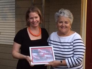 Jenny Lillge, Democracy Works Award recipient 2014
