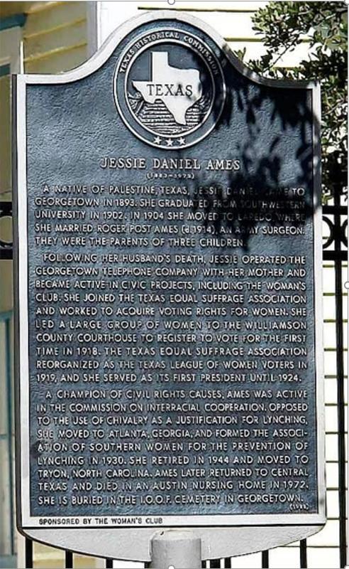 Jesse Daniel Ames historical plaque