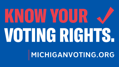 Michigan Know Your Voting Rights logo