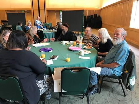 Group of League Members at Annual Brunch
