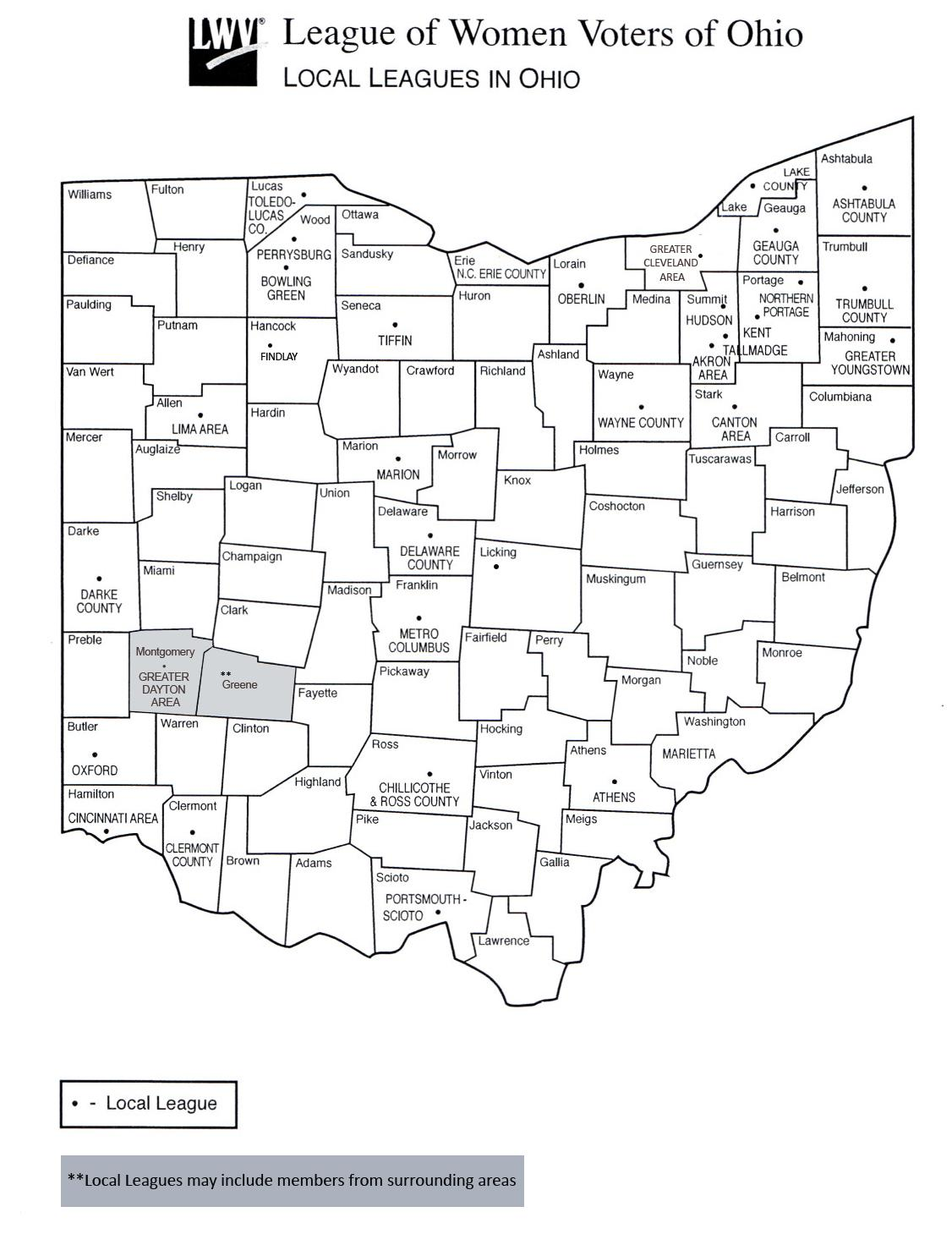 Local Leagues and At-Large Units in Ohio