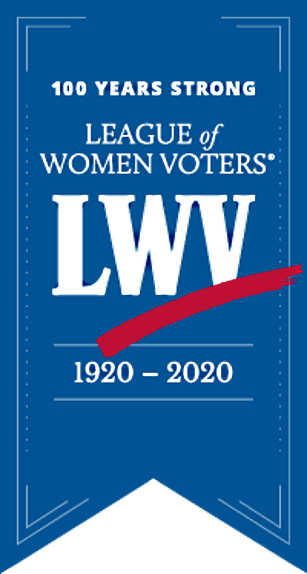 LWV logo celebrating 100 years of service to the USA