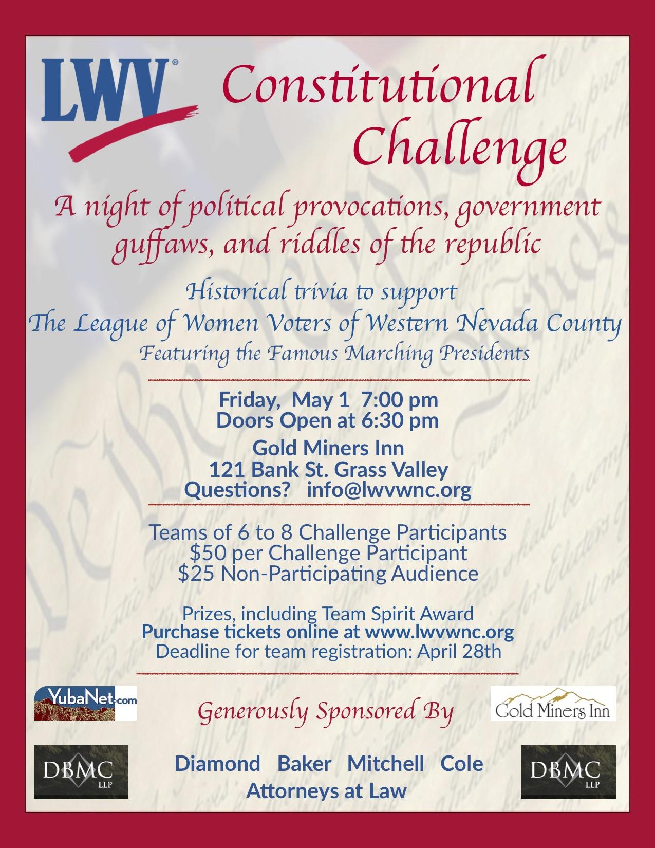 Constitutional Challenge poster