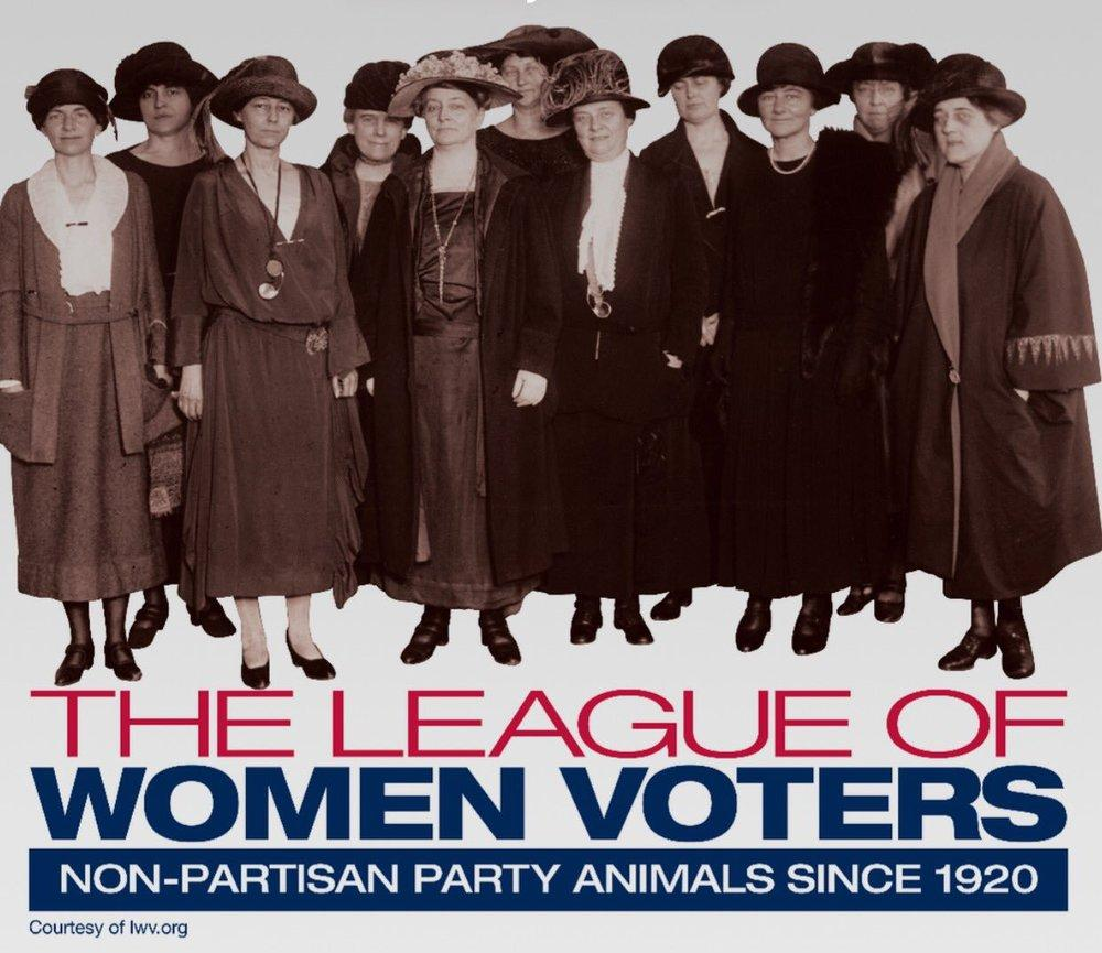 The League of Women Voters Non Partisan Party Animals Since 1920 Vintage image of league members