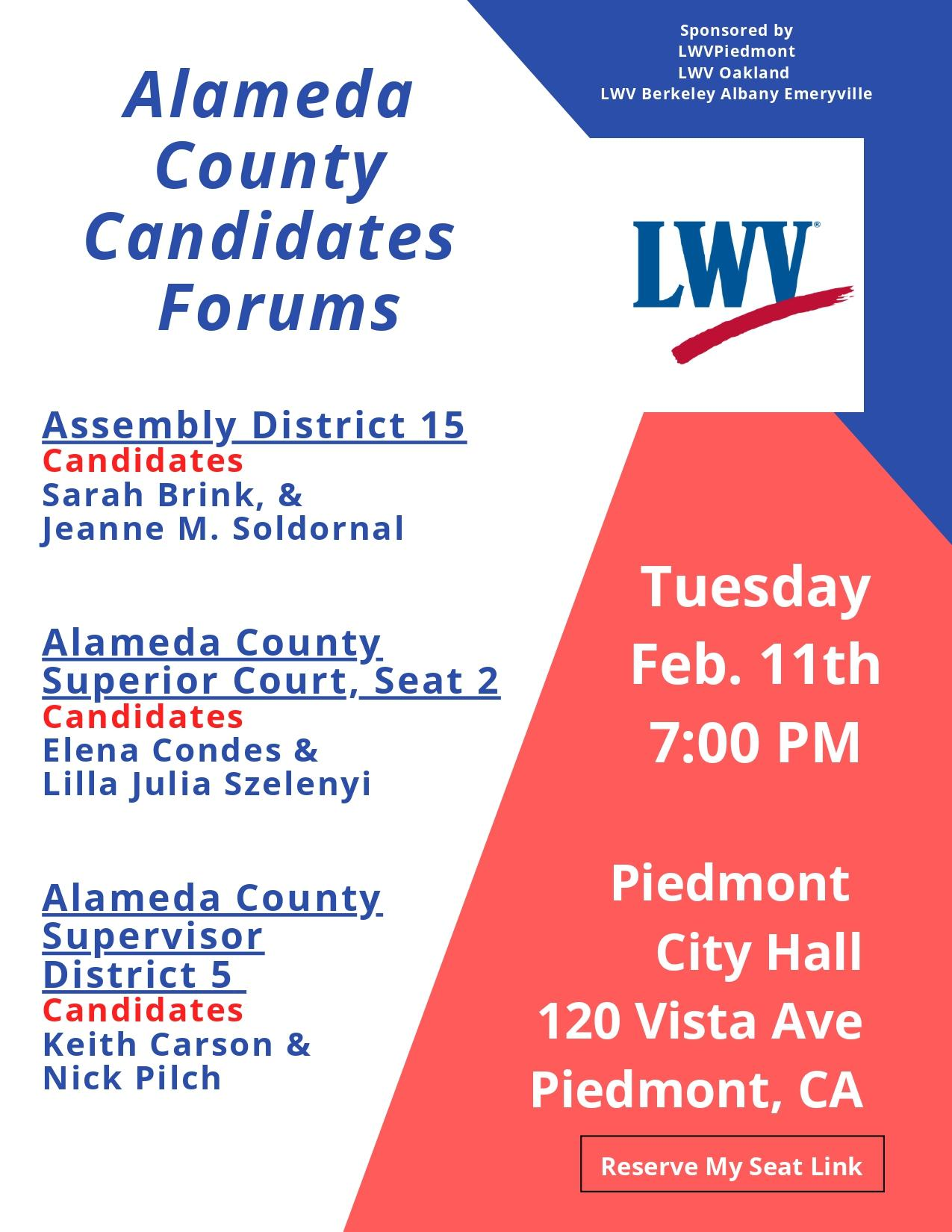 Candidate Forum February 11