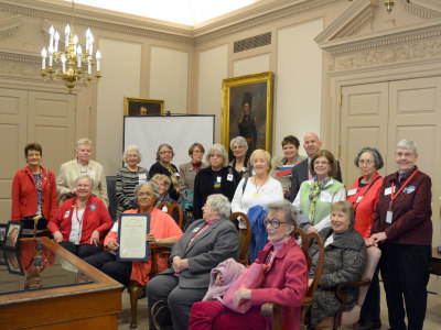 LWVDE Members with then-Governor Markell