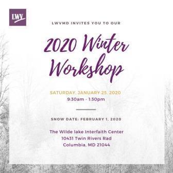 picture of LWVMD Winter Workshop poster Jan 25, 2019