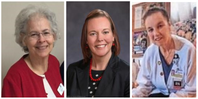 headshots of three women - nominating committee of LWVNCC in 2018