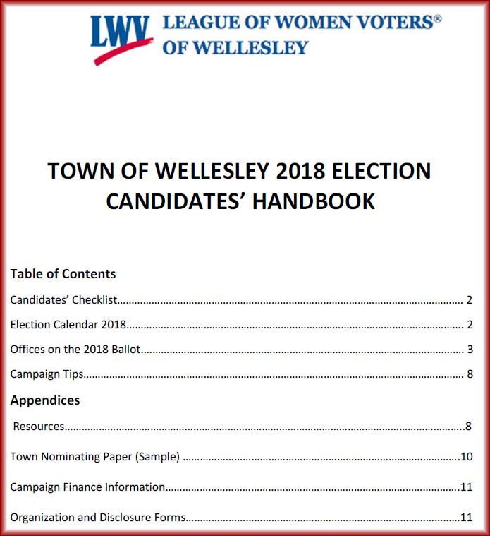 LWVW Candidates' Handbook 2018