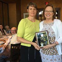 Nancy Johnson (r), 2016 Maud Wood Park Award Winner