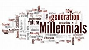 Millenials word cloud clipart