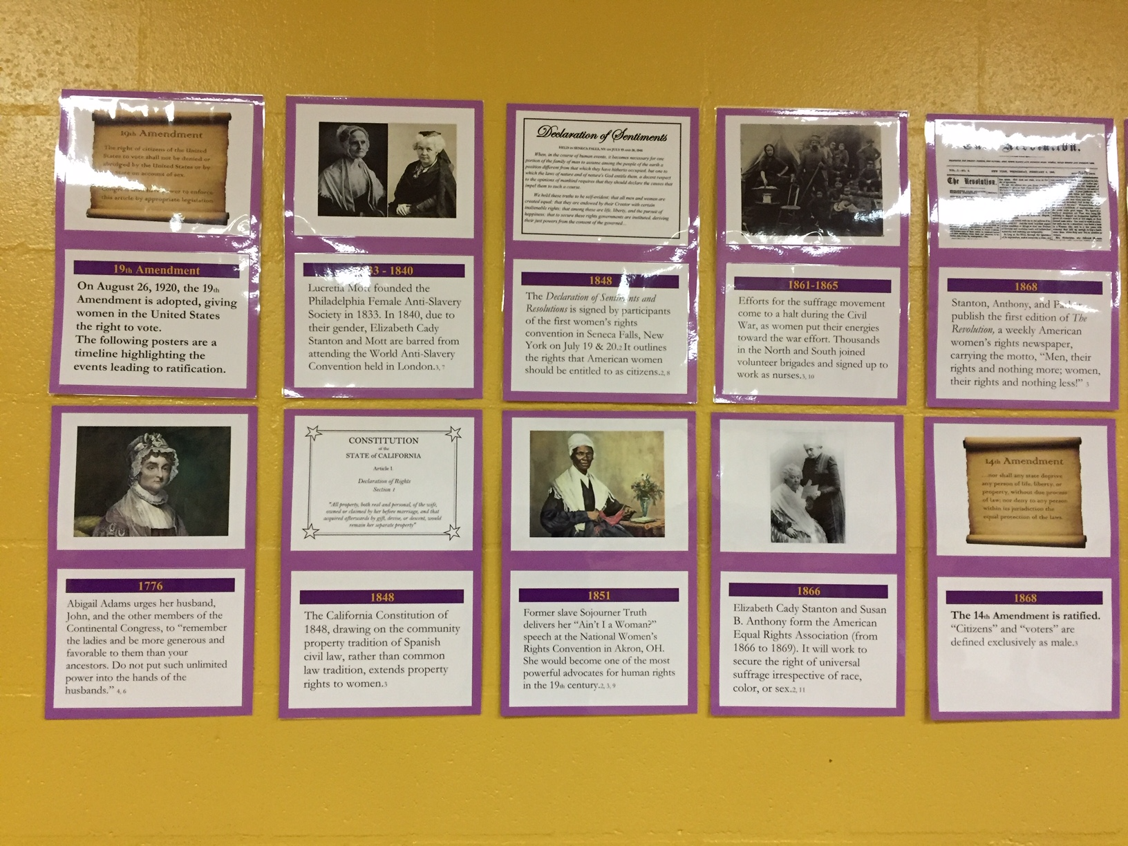 Another section of the Suffragist timeline.