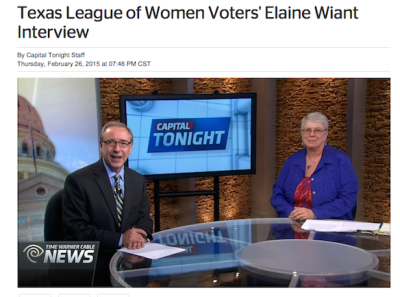 News Capitol Tonight Interview with Elaine Wiant