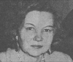 scan of newspaper photo of Nikki Keyes, founder of the LWV Vermont Education Fund