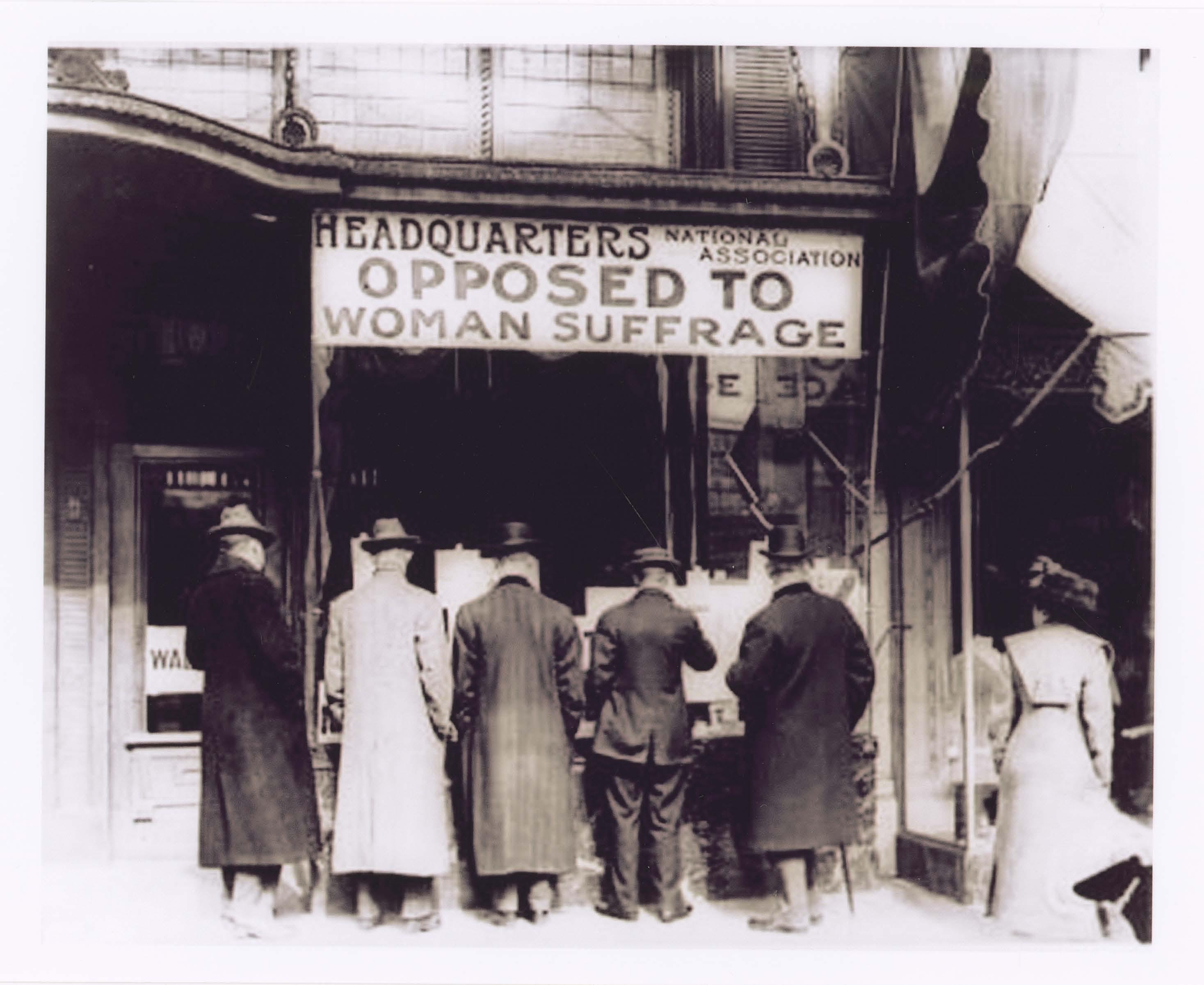 Not every woman supported Suffrage.