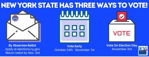 3 ways to vote in NYS