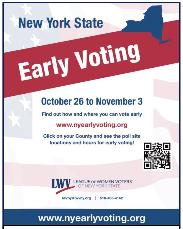 NYS Early Voting Flyer