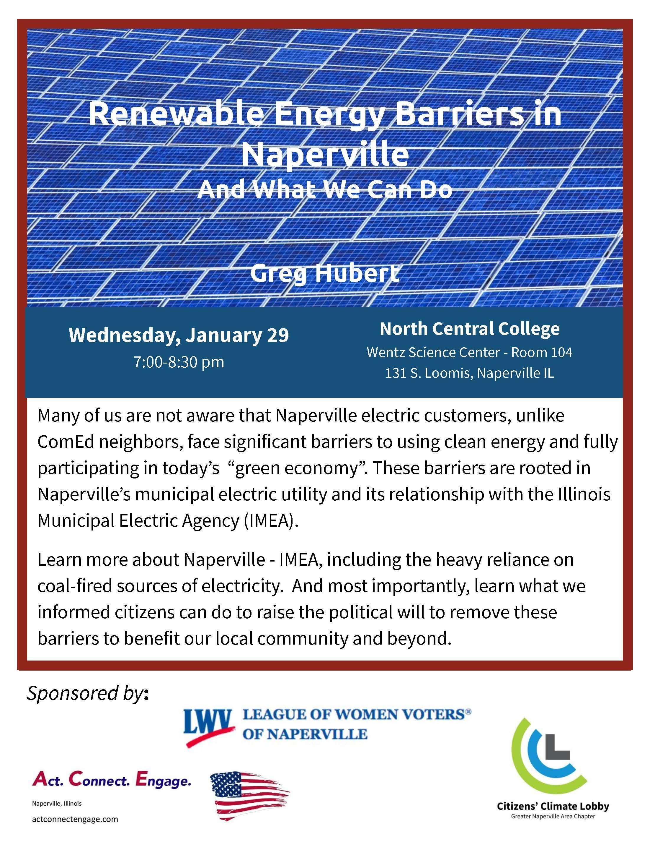 Renewable Energy Talk Naperville