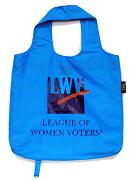 Blue, reusable shopping bag