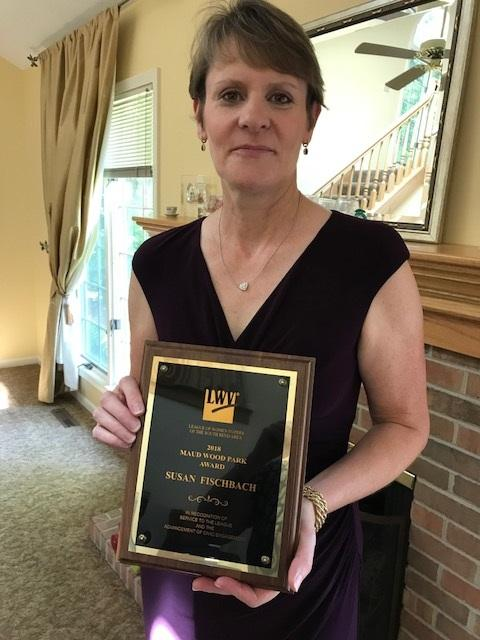 Susan Fischbach, Recipient of the 2018 Maud Wood Park Award