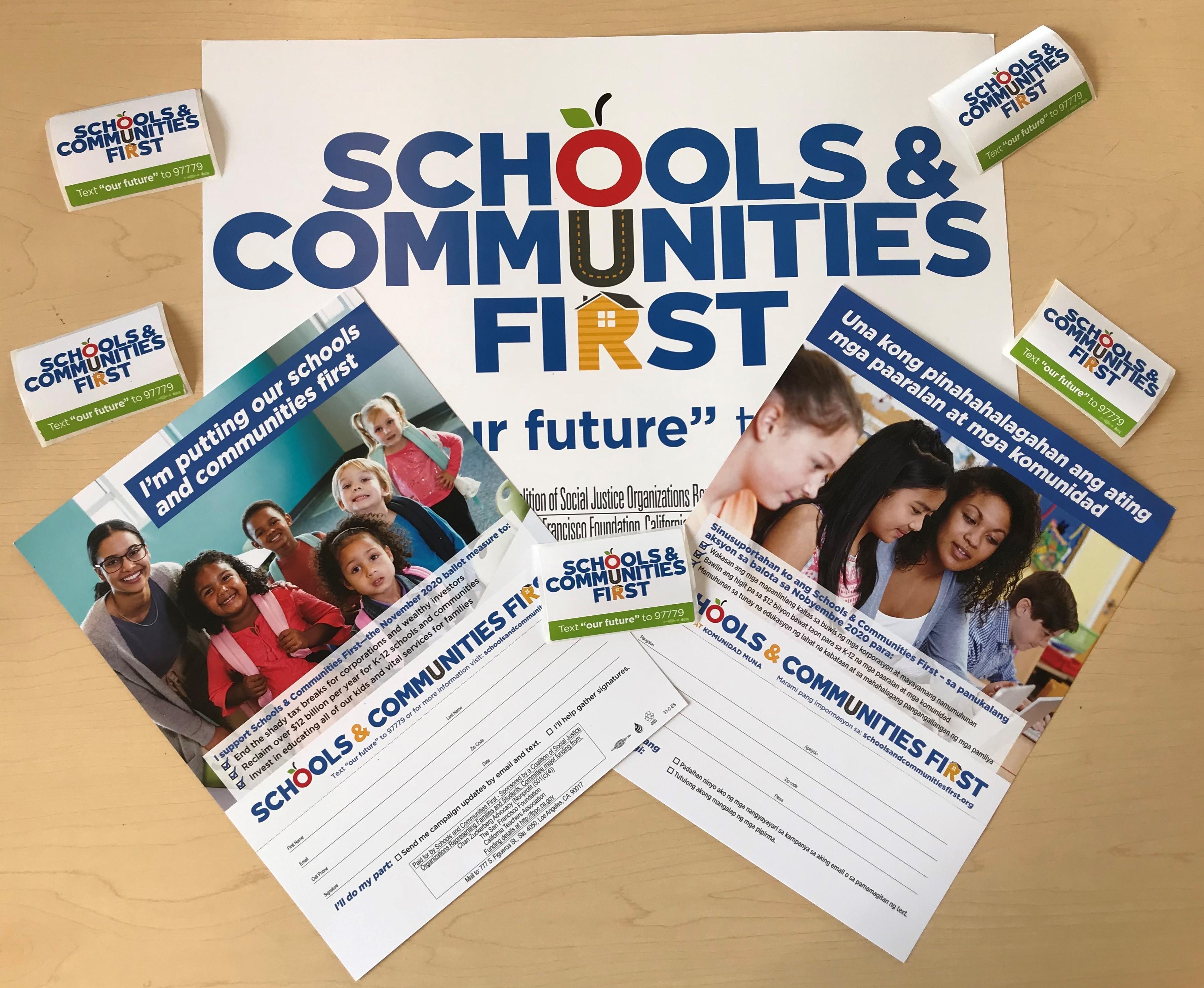 Schools & Communities First outreach materials