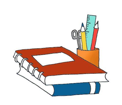 schoolbooks clip art