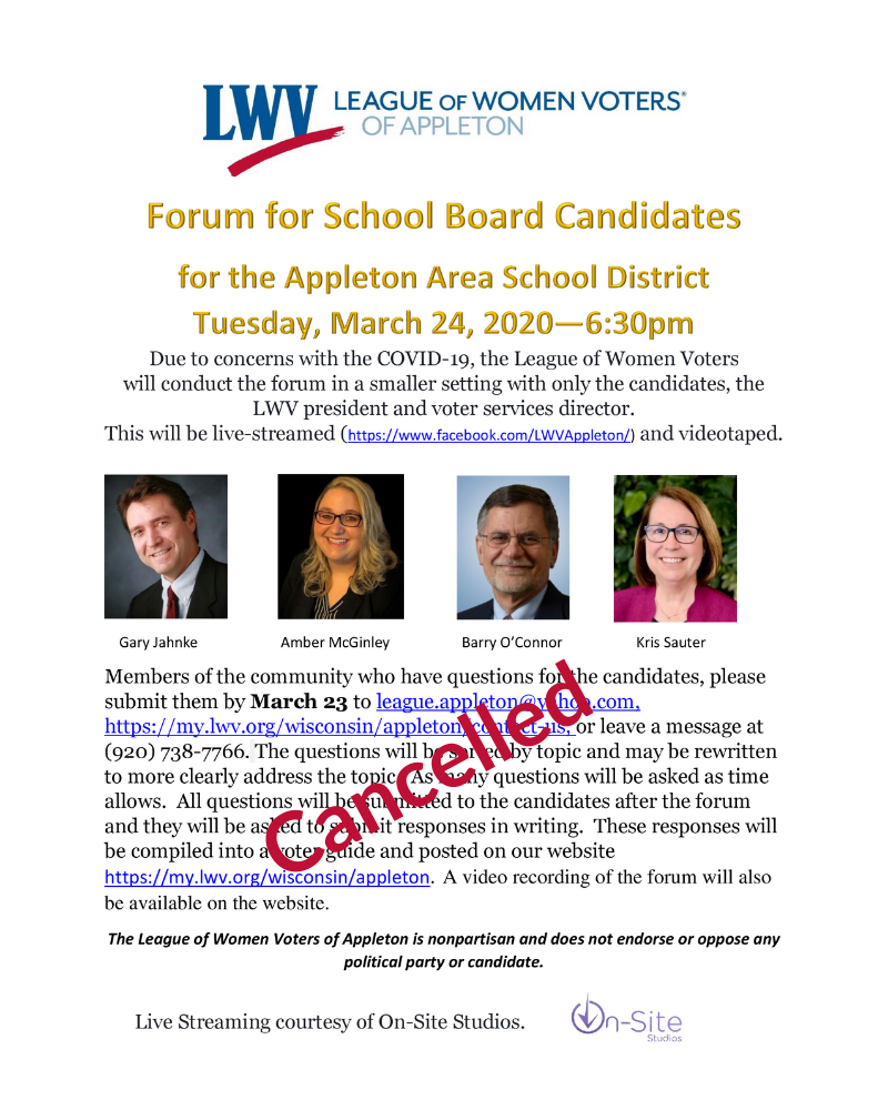 Cancelled School Board Forum