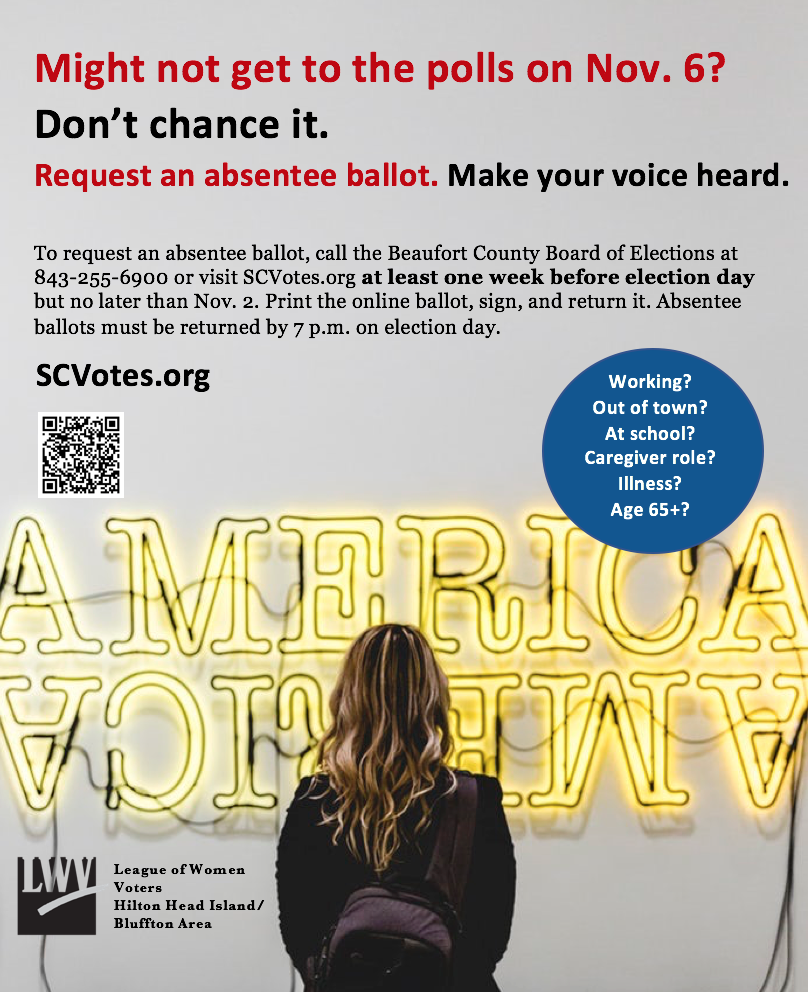 Request an absentee ballot by Oct 30 to vote Nov 6