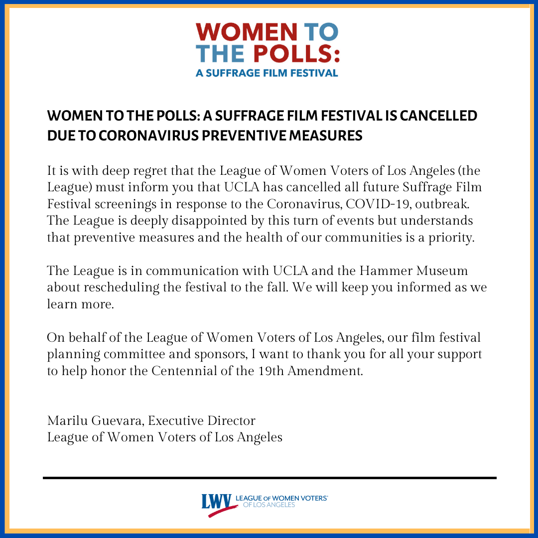 Cancelled Suffrage Film Festival