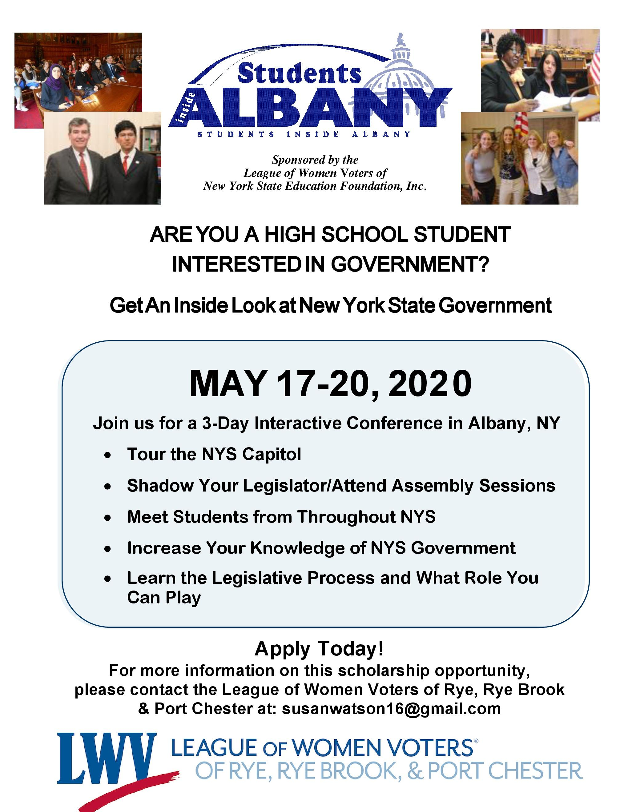 Students in Albany 2020