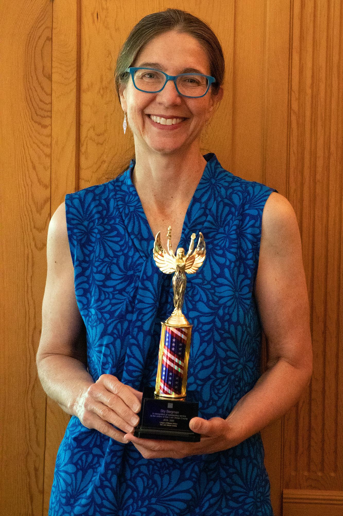 Sara Horne Winner Sky Bergman Filmmaker Forever Voters LWV SLOCO
