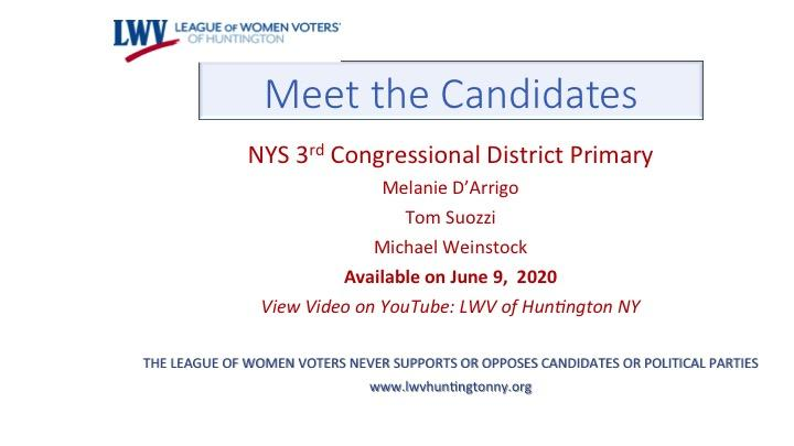 Meet the Candidates NY CD3 June 23 2020 Primary