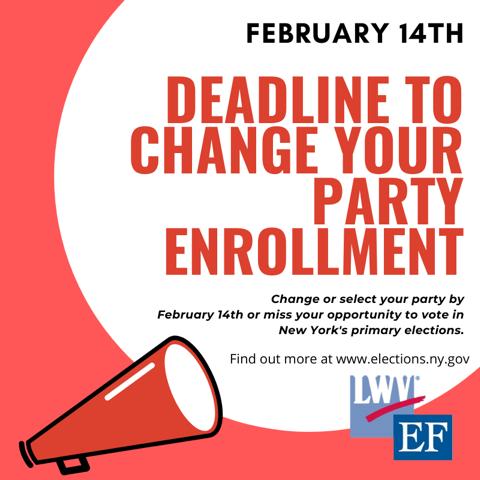 Change your party enrollment deadline