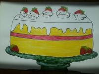 Strawberry Shortcake naive drawing