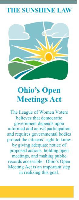 The Sunshine Law: Ohio's Open Meetings Act cover