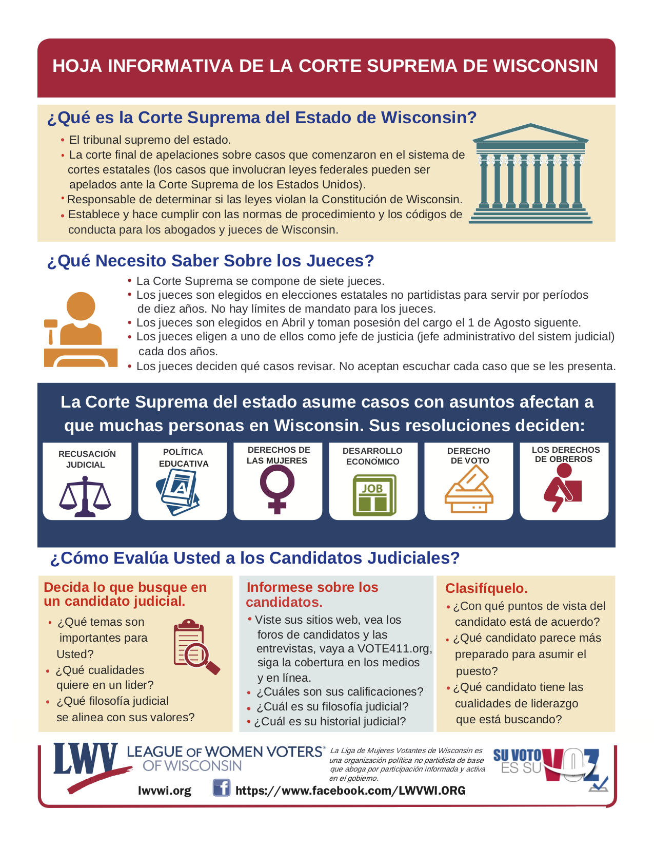 Wisconsin Supreme Court Fact Sheet