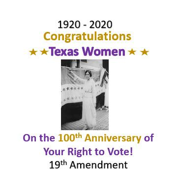 Congratulations Texas Women 100 years
