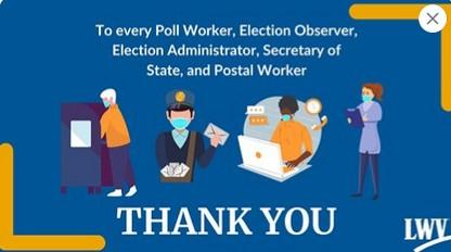 Thank you election workers