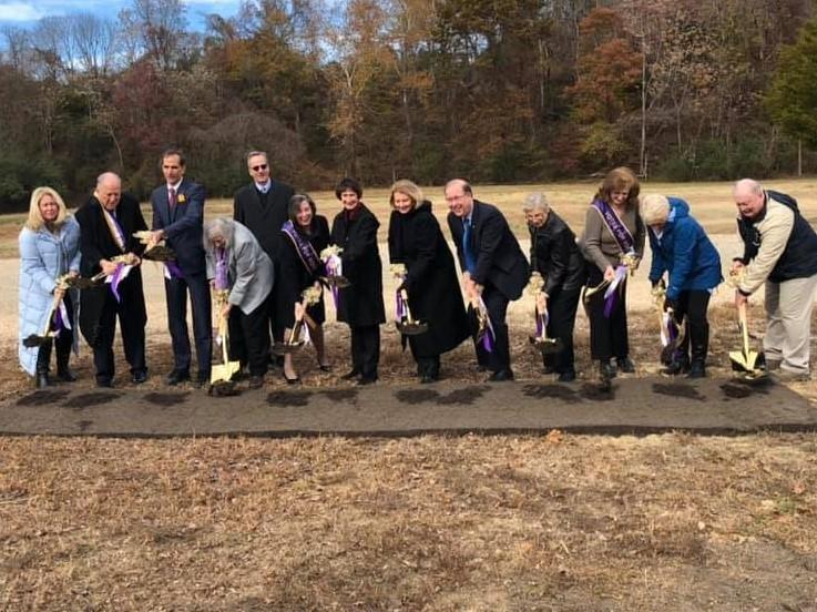 Picture of people at groundbreaking ceremony for TPSM, 11-14-2019