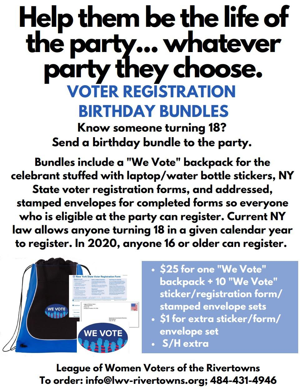 Voter Registration Birthday Bundle