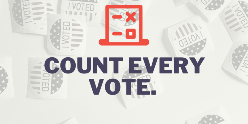 Democracy is worth waiting for. Count every vote! Click for LWVUS's official statement on 2020 election results.