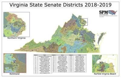 Virginia State Senate Districts 2018-2019